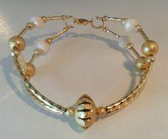 Mod:P85 pulsera de cristal y chapa de oro $75.00 mayoreo 25% de descuento $58.00