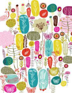 heatherahall:    createfindadmire:    apricotsays:    inspiro:    Carolyn Gavin illustration  {via Lilla Rogers Studio}        Flowers…butterflies… both chock full of happiness :)