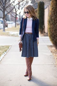 Preppy layers for spring.