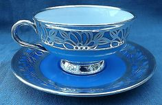 VINTAGE SILVER OVERLAY DEMITASSE CUP GERMANY ESCHENBACH