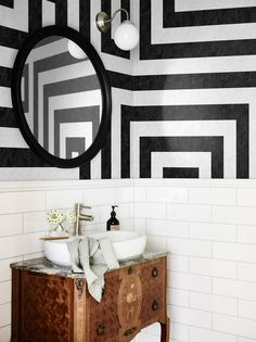 Inspiring U0026 Evocative Design Inspiration For Room Makeovers, This Post  Takes The Reader Through 10 Striped Wallpaper Design Ideas For Any Room In  The House.