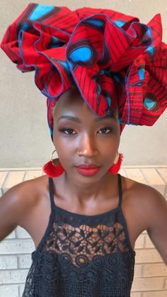 Quick tutorial on how to tie your Headwrap for an event- African Hair Wrap, African Head Scarf, African Head Wraps, Bandana Hairstyles, African Hairstyles, Black Women Hairstyles, Summer Hairstyles, Hair Wrap Scarf, Hair Scarf Styles