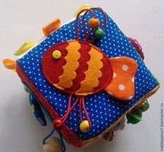 Купить Безопасный кубик-погремушка 6m+ - развивающий кубик, развивающая игрушка, мягкий кубик