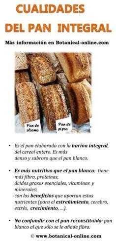 beneficios del pan integral - Buscar con Google