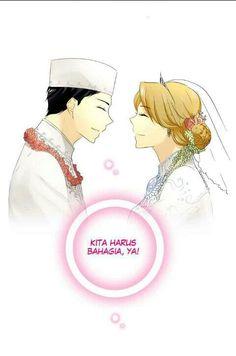 Happy wedding Mas & Adek :3 long last yaaa. #AdimasPurnama #AdeliaPutri #MasAdek #MyPrewedding #PasutriGaje #Webtoon #LineWebtoonIndonesia #AnnisaNisfihani #Sayuko90