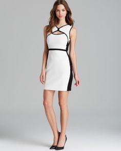 Bailey 44 Dress - Pop Up Sleeveless Honeycomb Ponte Cutout Sheath   Bloomingdale's