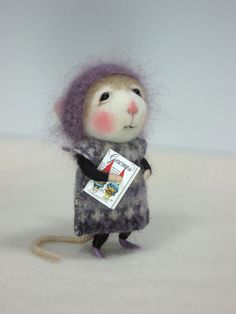 "Needle Felted Lilabelle 3"" Mouse By Barby Anderson by feltedmice, via Flickr"