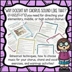 Chorus Handbook for Back to School Music