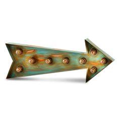 Flecha con bombillas con un estilo industrial. #industrial #decoracionindustrial #flechas #iluminacion