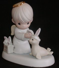 Enesco Precious Moments Figurine-Heaven Bless You Easter Seal-1998-456314
