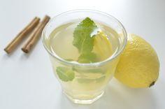 Zelfgemaakte ice tea zonder suiker met kaneel en citroen