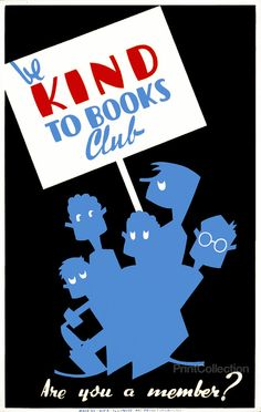 WPA Poster: Be Kind to Books Club