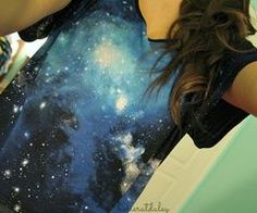 galaxy look. I would pair it with a leather jacket.