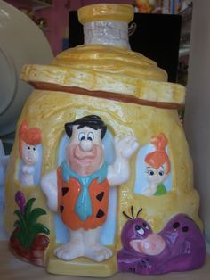 Flintstone house cookie jar/For sale at Jazz'e Junque in Chicago ~ www.jazzejunque.com