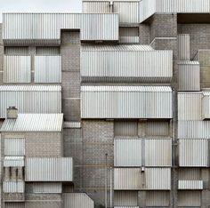 Grey corrugated