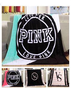 130*150 cm Primavera/Otoño Marca Victoria VS Secret Pink Coral Polar Mantas de Tela de Tamaño ropa de Cama de Franela Artículo pequeña Manta
