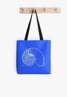 Fibonacci on a nautilus shell (blue) by funmaths