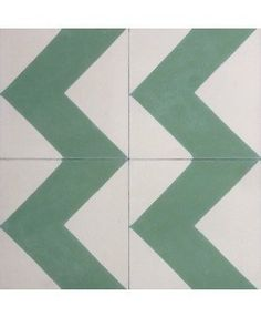 Chevron Pine Encaustic Cement Tile