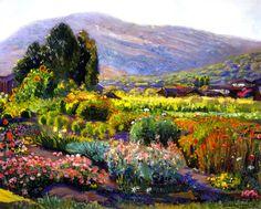 The Athenaeum - The Flower Garden - Laguna (Joseph Kleitsch - )