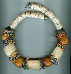 Large beads with rings/ thin wood donuts/ discs flanking Chunky Jewelry, Tribal Jewelry, Statement Jewelry, Boho Jewelry, Beaded Jewelry, Jewelery, Handmade Jewelry, Jewelry Necklaces, Beaded Necklace