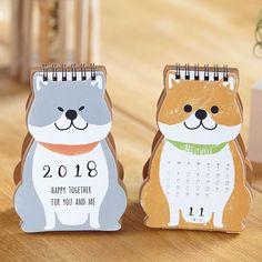 2018 Cartoon Dog Calendar Happy Together Mini Desktop Paper Calendar Daily Scheduler Table Planner Yearly Agenda Organizer Agenda Organizer, Agenda Organization, Flyer Poster, Kalender Design, Table Planner, Desktop, Dog Calendar, Advent Calenders, Mini