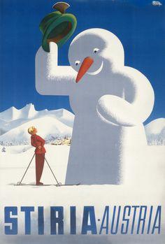 Stiria - Austria by Turk, Herbert Walter | Shop original vintage #midcentury posters online: www.internationalposter.com