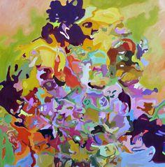 "Original Acrylic + Oil Painting.  ""Flora"""