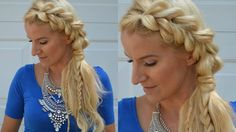 Side Pull Through Half Up Braid | Hairstyle | Andrea Jueong