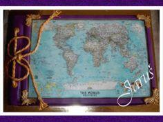 world map - album cake