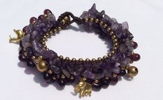 Amethyst Bracelet  Amethyst Jewelry  Purple by EasternVibes