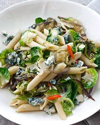 Penne Rigate with Brussels Sprouts and Gorgonzola Recipe