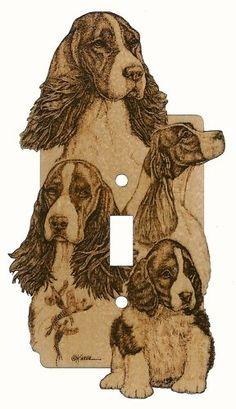 ENGLISH SPRINGER SPANIEL PAW LOVE HEART PET DOG License Plate Frame Tag Holder