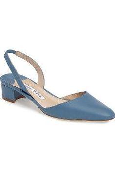 Alternate Image 1 Selected - Manolo Blahnik Aspro Block Heel Pump (Women)