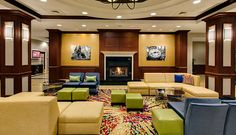 Chicago Midway Airport Hotel | (yellow modular seating)