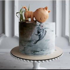 "AmourDuCake on Instagram: ""YES OR NO?? Amazing cake 🐱🐟🐟 by @elena_gnut_cake . Her work is amazing and creative!!"" Chef D Oeuvre, Edible Cake, Cool Wedding Cakes, Cake Videos, Specialty Cakes, Cake Tutorial, Cake Art, Vintage Prints, Fun Desserts"