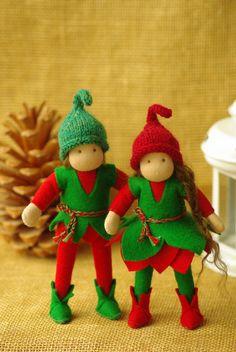 Christmas Elf  Waldorf doll // Elf for boy or for by TaleWorld