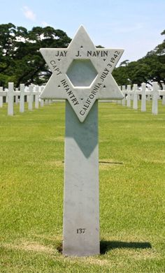 Jay J. Navin.   Captain, U.S. Army  Service # 0-234850  US Infantry   Entered the Service from: California  Died: July 3, 1942  Buried: Plot D, Row 16, Grave 137  Manila American Cemetery  Manila, Philippines   Awards: Purple Heart    Our mission is to honor the service, achievements and sacrifice of U.S. Armed Forces. To search the names of those buried and memorialized in our cemeteries, visit http://go.usa.gov/PFj.