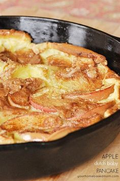 Cinnamon Apple Dutch Baby Pancake makes a great breakfast or a great dinner!