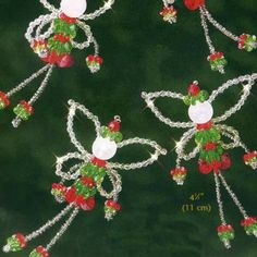 """$7.42 Beadery Holiday Beaded Ornament Kit-christmas Fairies 4.5"""" Makes 6  From Beadery   Get it here: http://astore.amazon.com/ffiilliipp-20/detail/B0050L3LBO/177-9909688-0393227"""
