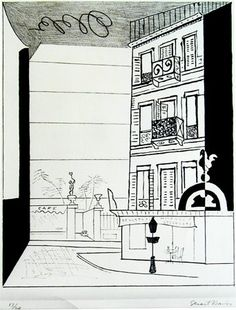 Stuart Davis (1892-1964) Place Pasdeloup No. 2 ,1929 Lithograph on Stone Courtesy of private collection