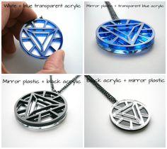 Iron Man Necklace -Heart Arc Reactor