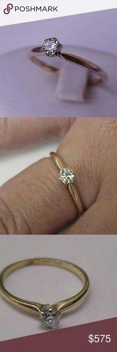 Spotted while shopping on Poshmark: Antique 14k gold  .25ct diamond engagement ring! #poshmark #fashion #shopping #style #Jewelry