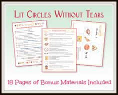 Fun and Easy Literature Circles: Illustrated Student Instruction Sheets, Participation Guides and Cube Templates - based on BLOOM'S TAXONOMY - add excitement to group discussions. Bonus materials including an Author's Craft Report and 8 additional Illustrated lessons are included in this package. (priced item).