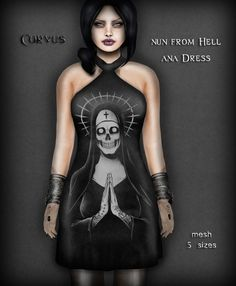 b2402e9f820c1 Corvus : Nun from Hell Ana Dress Nun, Second Life, Gothic Fashion, Bass