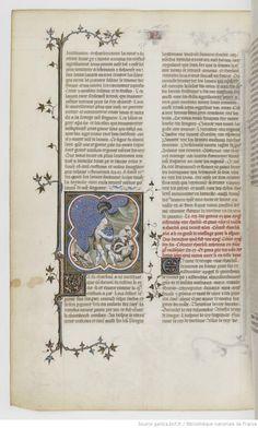 Grandes Chroniques de France Fol 114v, 1375-1380, Henri du Trévou & Raoulet d'Orléans