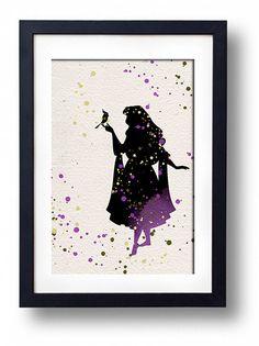 Sleeping Beauty disney watercolor illustrations art children's room wall art art home decor nursery art on Etsy, $15.00