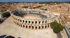 Nîmes, France. The amazing Arènes de Nîmes, built during the Roman Empire, really makes you feel as though you've travelled back in time!