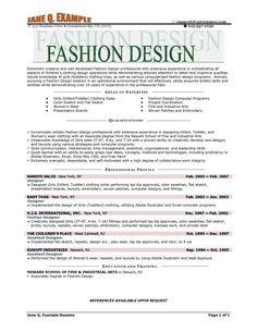fashion designer resume example resume objectivefree cover lettercover - Cover Letter Resume Sample