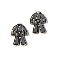 Martial Arts Cufflinks Set Gift Box Included by Mancornas on Etsy, $31.75