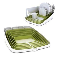 Joseph Joseph - Arena Self Draining Dish Rack Green $69 #Dish_rack #Gadget #Kitchen